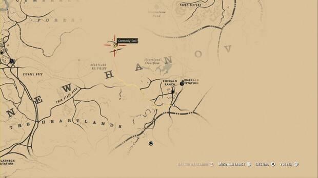 Red Dead Redemption 2 - Las columnas de América: dirígete a Carmody Dell