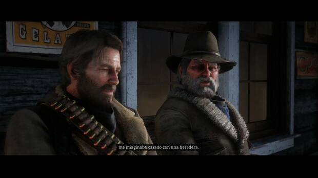 Red Dead Redemption 2 - Sociedad educada, estilo Valentine: Morgan y Uncle toman un trago