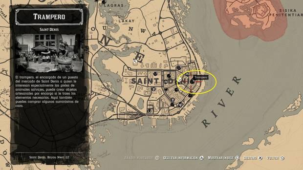 Ubicación Trampero Saint Dennis- Red Dead Redemption 2
