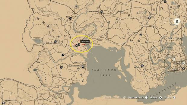 Ubicación Trampero West Elizabeth - Red Dead Redemption 2