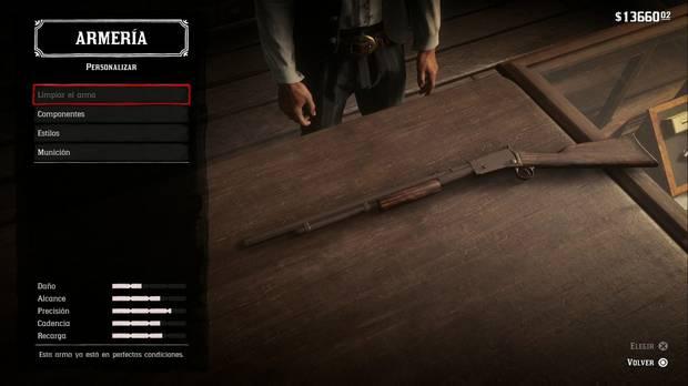 Fusiles en Red Dead Redemption 2