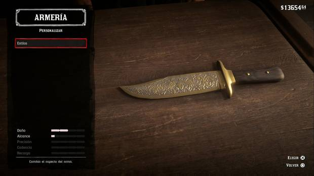 Cuchillo Red Dead Redemption 2