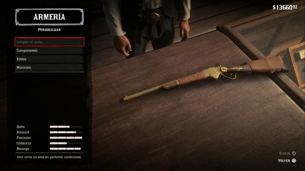 Armas de Repetición en Red Dead Redemption 2