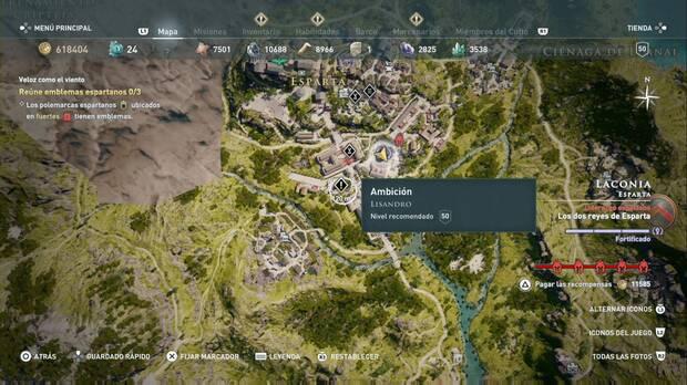 Assassin's Creed Odyssey - Ambición: localización de Lisandro