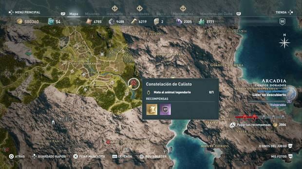 Assassin's Creed Odyssey - Animales legendarios: localización de la Osa Calisto