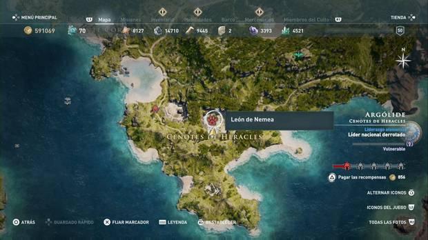 Assassin's Creed Odyssey - Animales legendarios: localización del León de Nemea