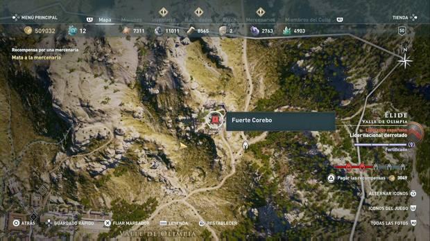 Assassin's Creed Odyssey - Miembros del Culto: localización de Calias