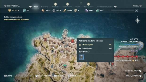 Assassin's Creed Odyssey - Miembros del Culto: localización de Macaón el Temido