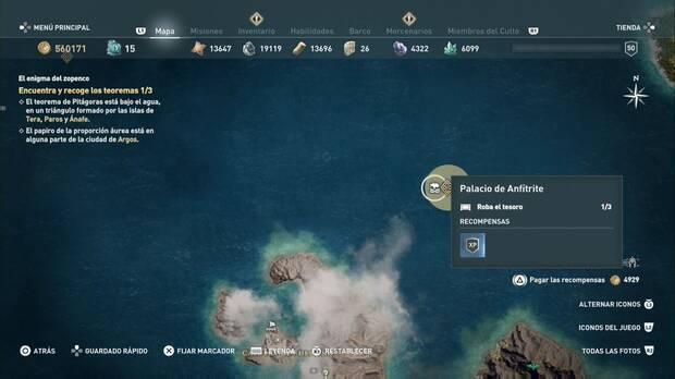 Assassin's Creed Odyssey - El enigima del zopenco: localización del Teorema de Pitágoras