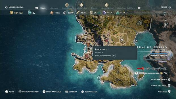 Assassin's Creed Odyssey - Amor duro: localización