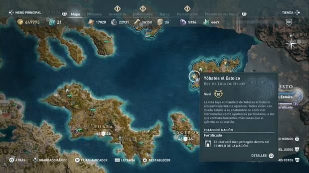 Assassin's Creed Odyssey - Miembros del Culto: localización de Yóbates el estoico