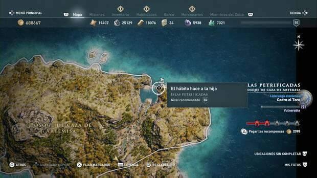 Assassin's Creed Odyssey - El hábito hace a la hija: localización