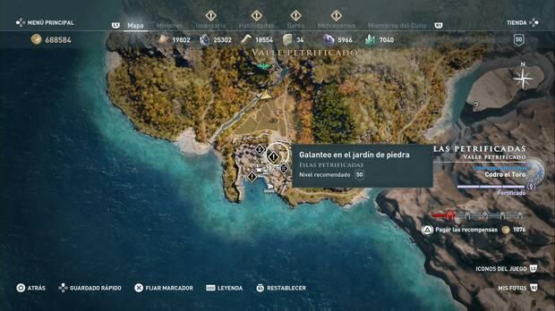 Assassin's Creed Odyssey - Galanteo en el jardín de piedra: localización