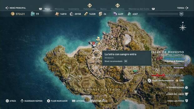 Assassin's Creed Odyssey - La letra con sangre entra: localización
