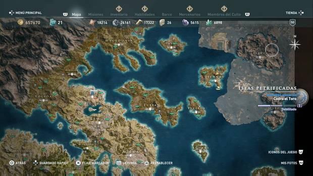 Assassin's Creed Odyssey - Islas Petrificadas