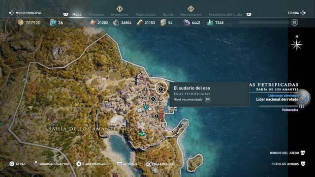 Assassin's Creed Odyssey - El sudario del oso: localización