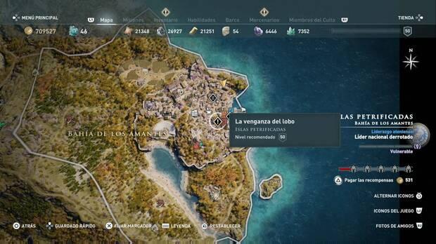 Assassin's Creed Odyssey - La venganza del lobo: localización