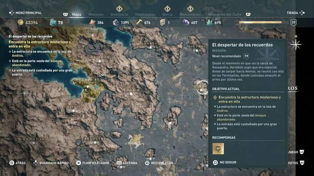 Assassin's Creed Odyssey - El despertar de los recuerdos: la isla de Andros