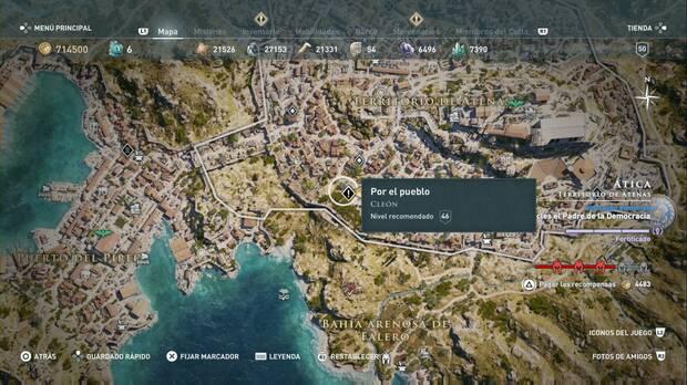 Assassin's Creed Odyssey - Por el pueblo: localización