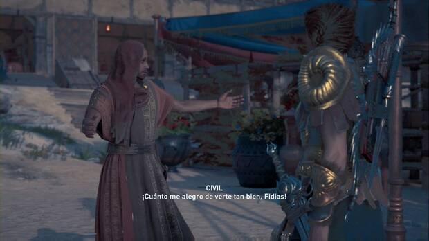 Assassin's Creed Odyssey - Huida de Atenas: Fidias se encuentra con su amigo