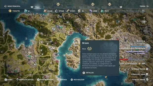 Assassin's Creed Odyssey - Miembros del Culto: localización de Brisón