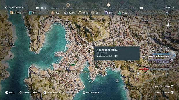 Assassin's Creed Odyssey - A caballo robado...: localización de la misión