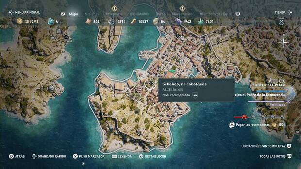 Assassin's Creed Odyssey - Si bebes, no cabalgues: localización
