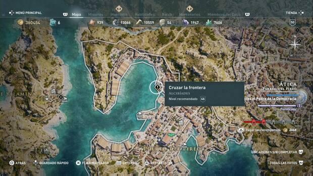 Asssassin's Creed Odyssey - Cruzar la frontera: localización