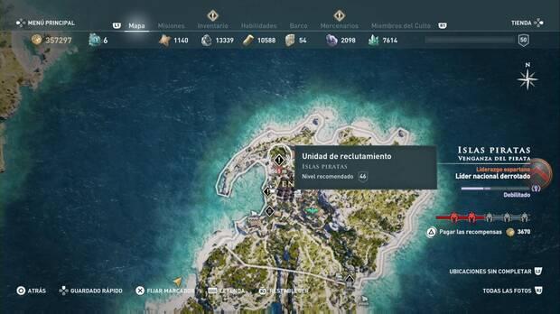 Assassin's Creed Odyssey - Unidad de reclutamiento: localización