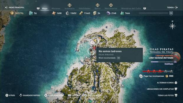 Assassin's Creed Odyssey - No somos ladrones: localización