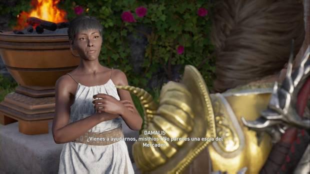 Assassin's Creed Odyssey - Ayudar a una chica: Damalis