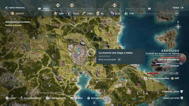 Assassin's Creed Odyssey - La muerte nos llega a todos: localización