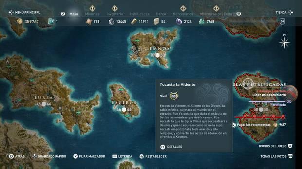 Assassin's Creed Odyssey - Miembros del Culto: localización de Yocasta la Vidente