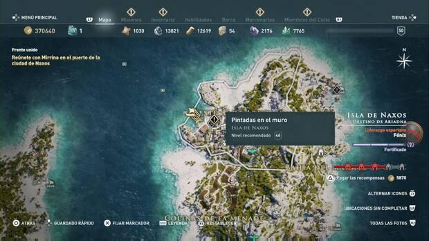 Assassin's Creed Odyssey - Pintadas en el muro: localización