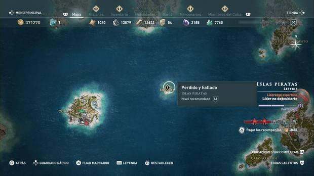 Assassin's Creed Odyssey - Perdido y hallado: localización