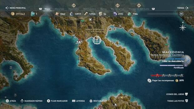 Assassin's Creed Odyssey - Aquella que controla los mares: ubicación de la Caverna sumergida