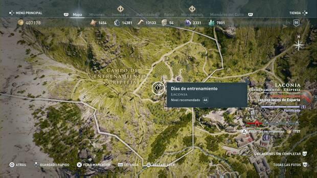Assassin's Creed Odyssey - Días de entrenamiento: localización
