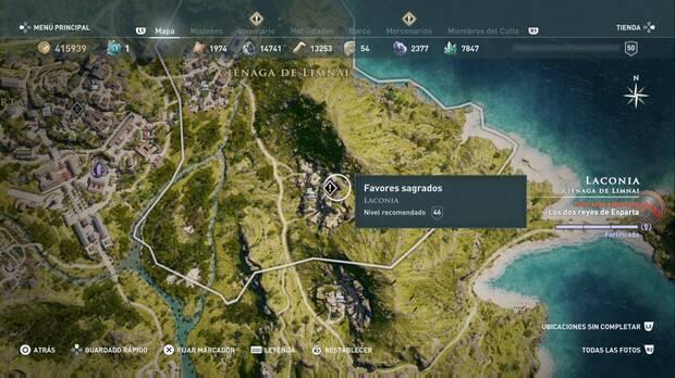 Assassin's Creed Odyssey - Favores sagrados: localización