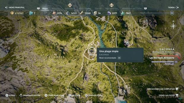Assassin's Creed Odyssey - Una plaga impía: localización