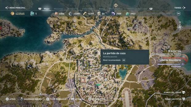 Assassin's Creed Odyssey - Partida de caza: localización