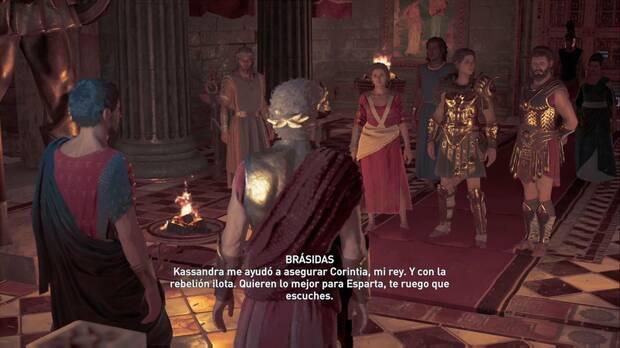 Assassin's Creed Odyssey - Los dos reyes de Esparta: Brásidas responde por Kassandra y Mirrina