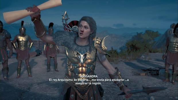 Assassin's Creed Odyssey - La conquista: Kassandra anuncia que la han enviado para ayudar
