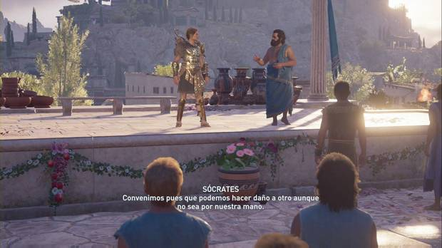 Assassin's Creed Odyssey - La verdad: Sócrates y Kassandra hablan ante el pueblo