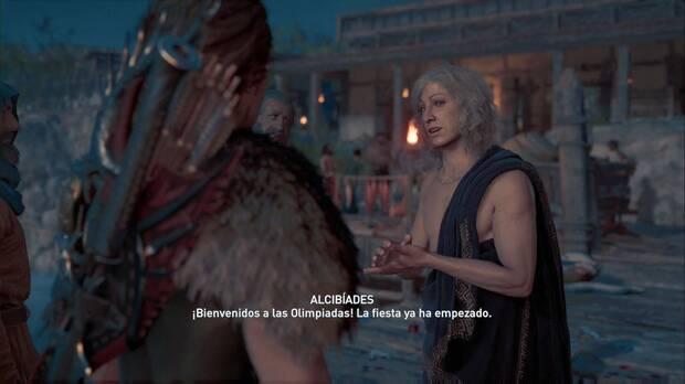 Assassin's Creed Odyssey - Acompaña al campeón: Alcibíades te recibe en Élide