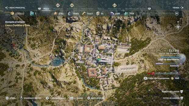 Assassin's Creed Odyssey - Misiones olímpicas: localización