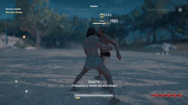 Assassin's Creed Odyssey - Hora de competir: usa el Ataque con sobrecarga desarmado