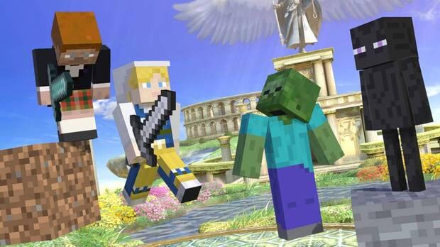 Los personajes de Minecraft son los nuevos luchadores de Super Smash Bros. Ultimate Imagen 2