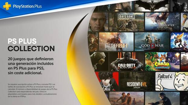 PlayStation Plus Collection 20 juegos de PS4 para PS5