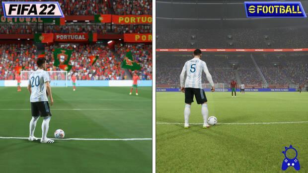 eFootball contra FIFA gr