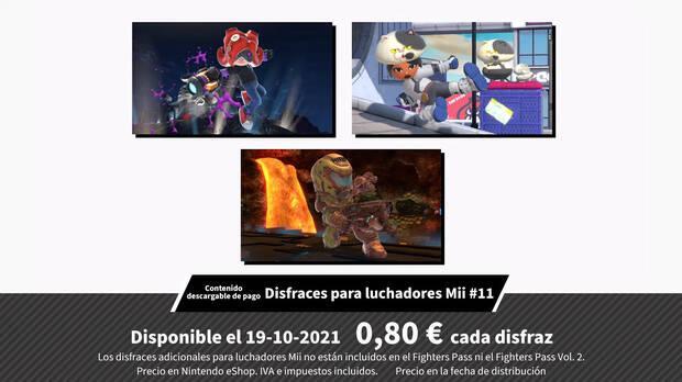Personajes Mii Doom Splatoon Super Smash Bros. Ultimate